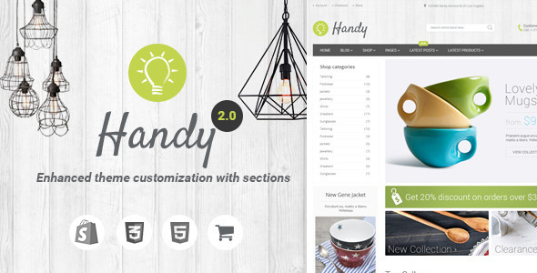 Handy Handmade Shop Shopify Vorlage