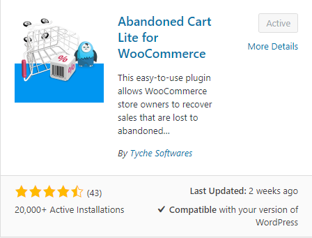 Abandoned Cart for WooCommerce Lite