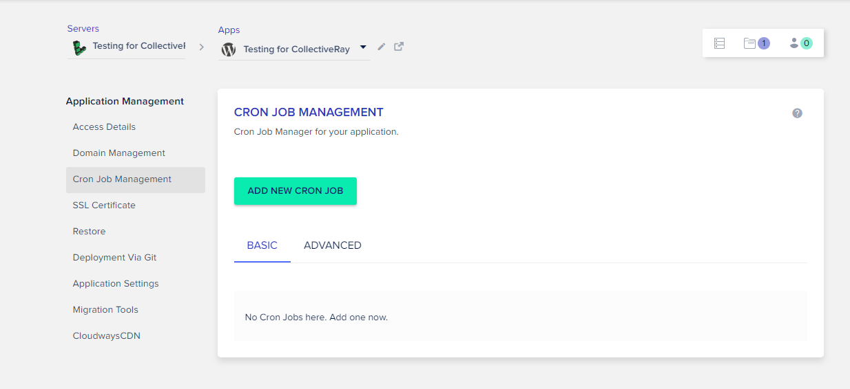 Cron job management
