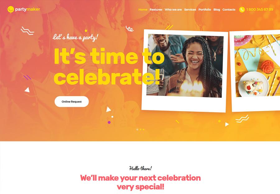 PartyMaker | Tapahtumasuunnittelijan WordPress-teema
