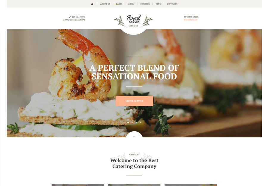 Royal Event - Planner & Catering Company WordPress Theme