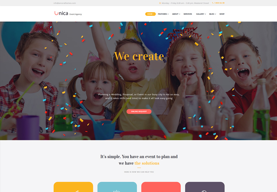 Unica - Event Planning Agency WordPress Theme
