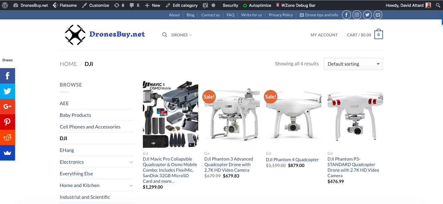 sito web woocommerce dronesbuy.net