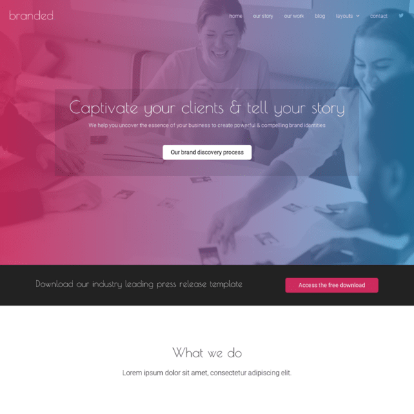 branded template