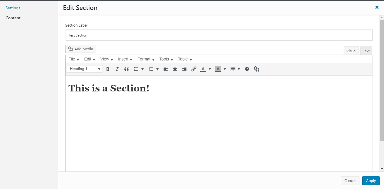 section editor