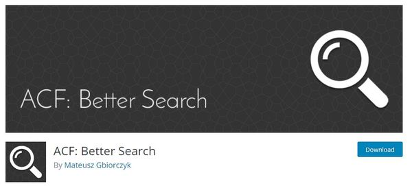ACF Better Search