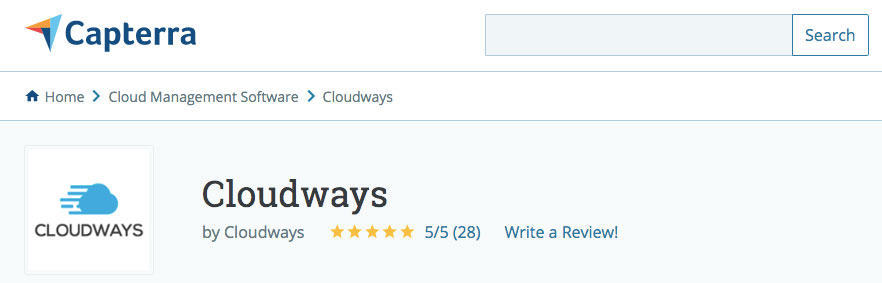 capterra cloudways reviews