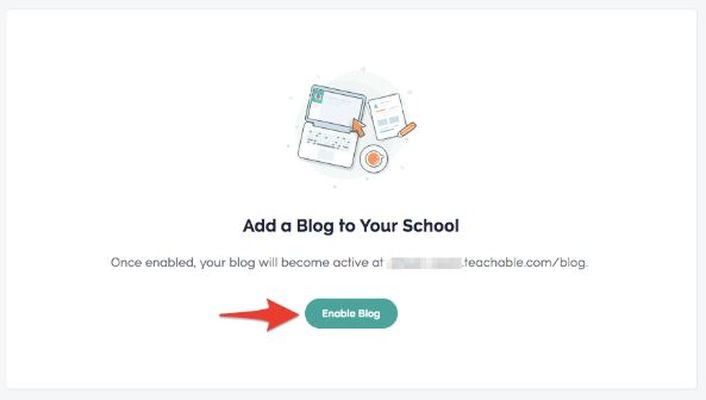 Adding a blog to Teachable