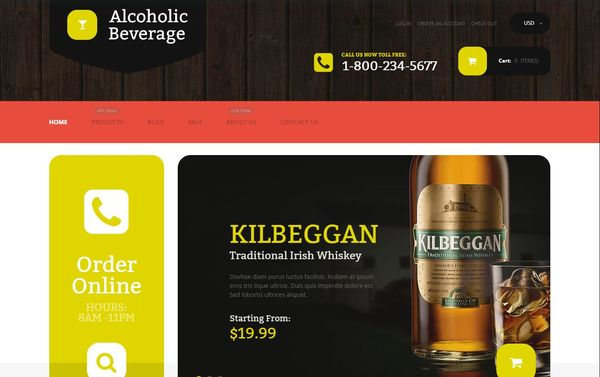 Alcoholic Beverage Store Shopify Theme