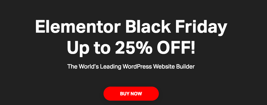 elementor black friday 2020