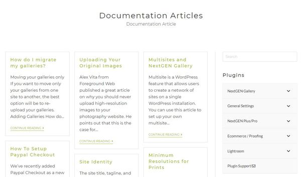 Documentation and support