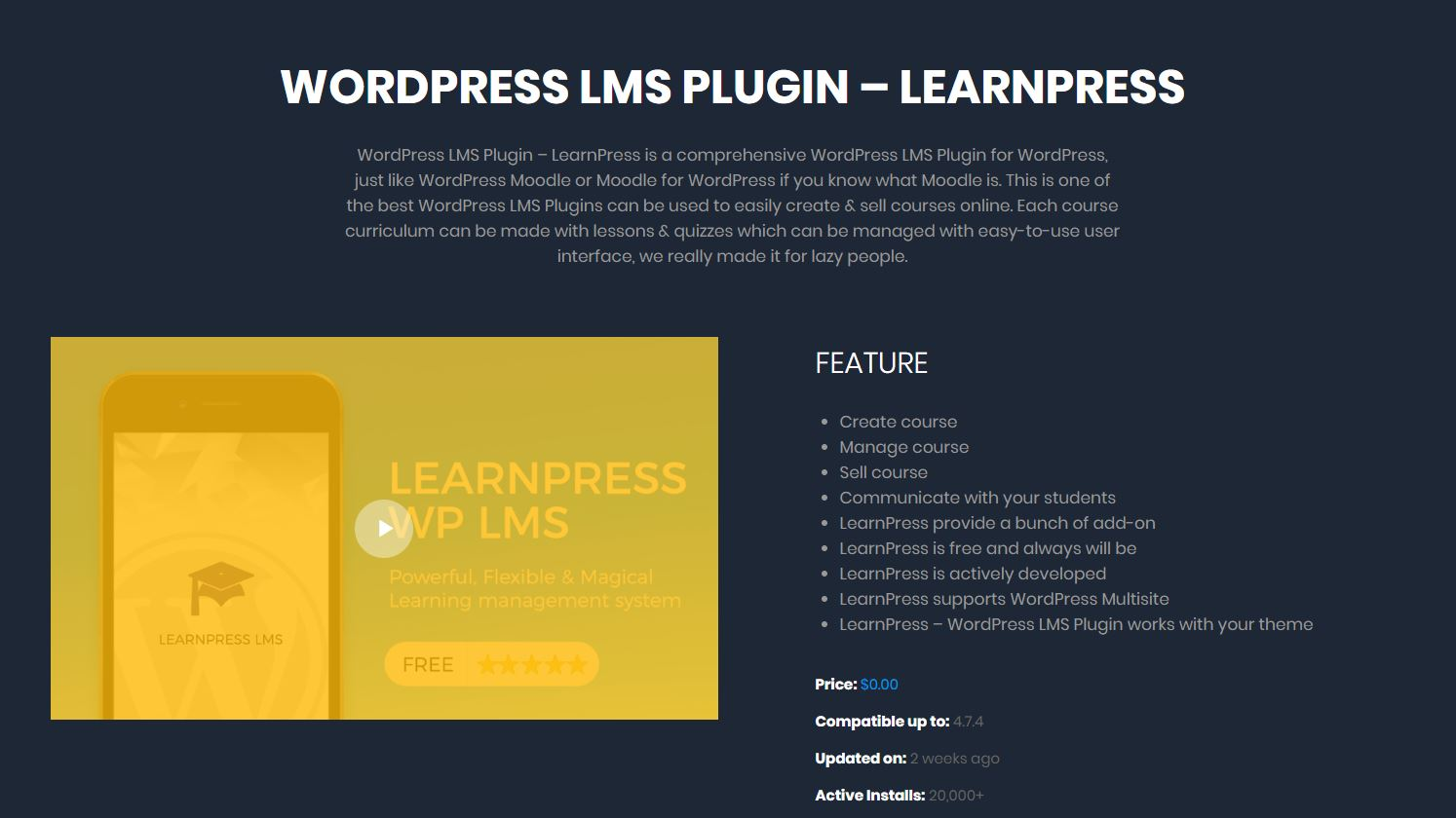 LearnPress LMS review 2019