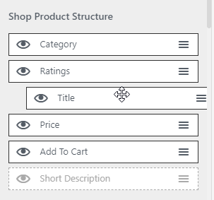 product metadata sorting