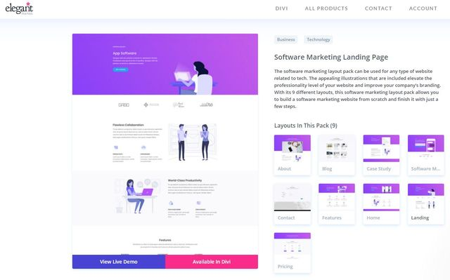 Divi Software Marketing pack