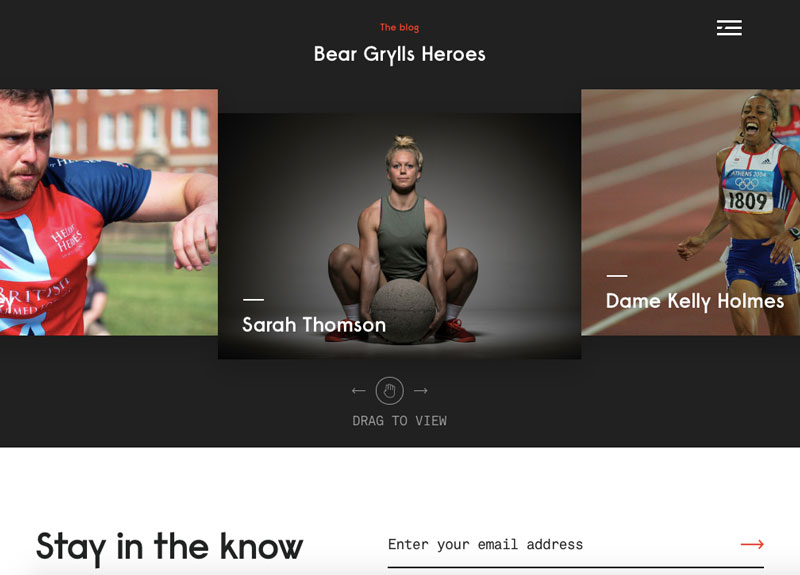 bear grylls dark mode website