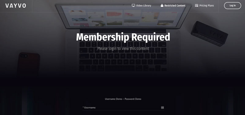 vayvo media streaming membership site