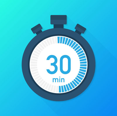 the 30 minutes stopwatch icon