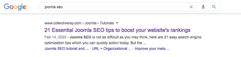 title tag as seen in the SERPs