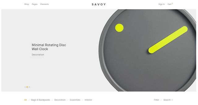ThemeForest Savoy