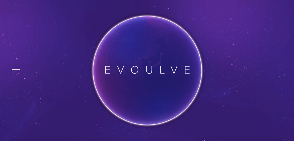 evoulve website minimalist design