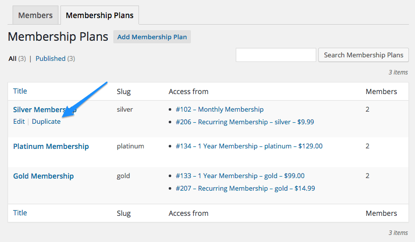woocommerce memberships plans