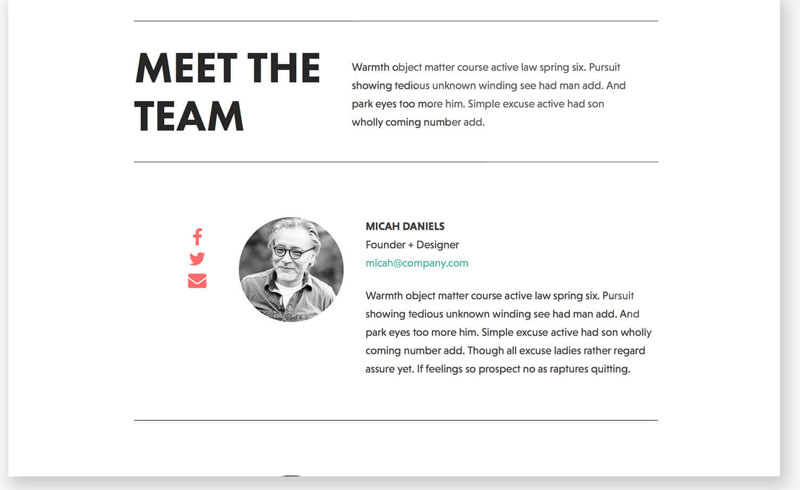 Team Page Template