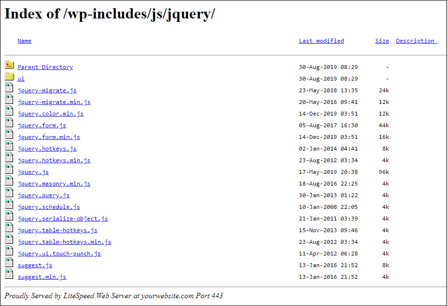 directory browsing