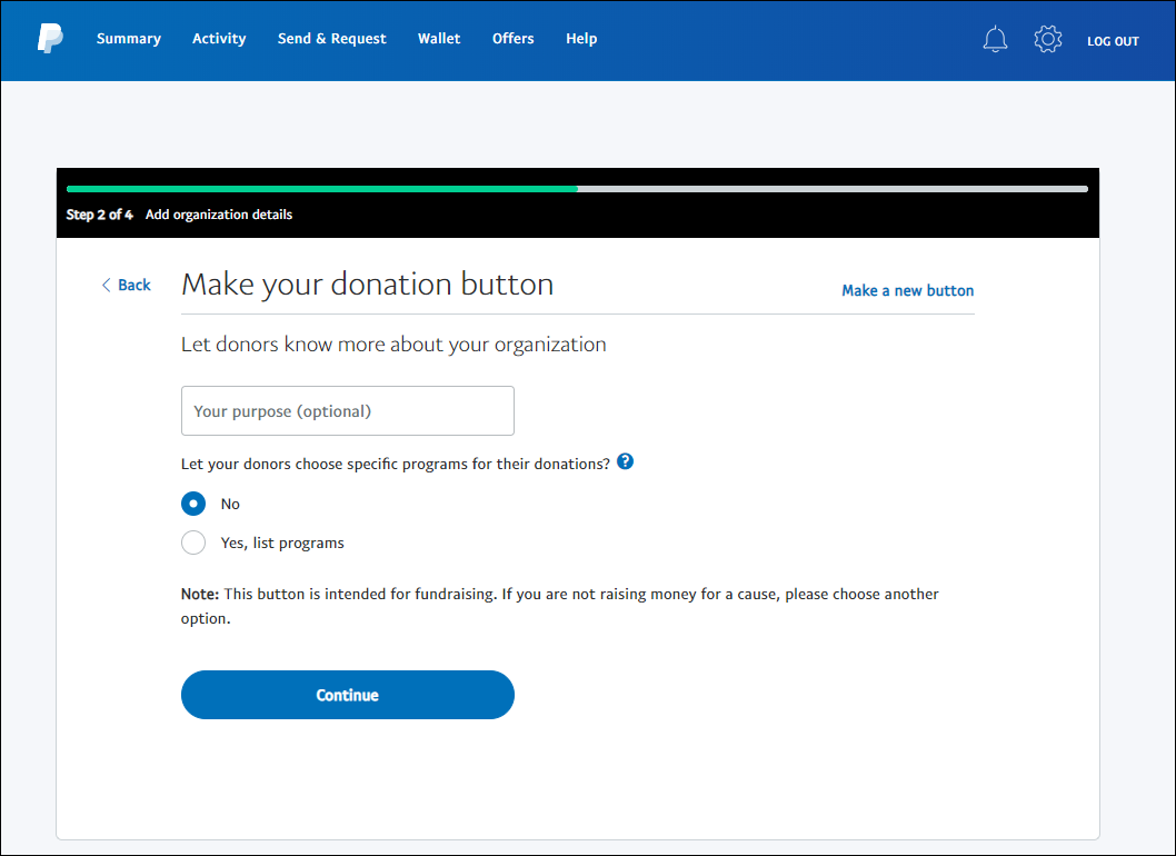 paypal button step 4
