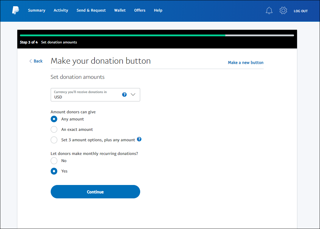 paypal button step 5