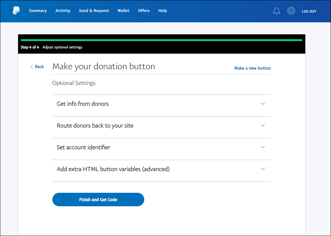 paypal button step 6