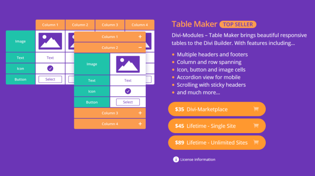 Divi Table Maker