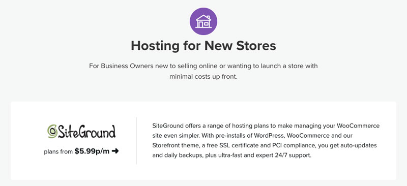 Siteground Official WooCommerce Partner