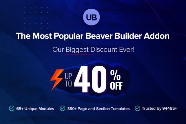 ultimate addons beaver builder bfcm