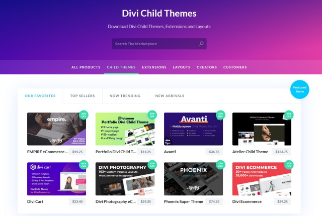 Different types of WordPress child themes