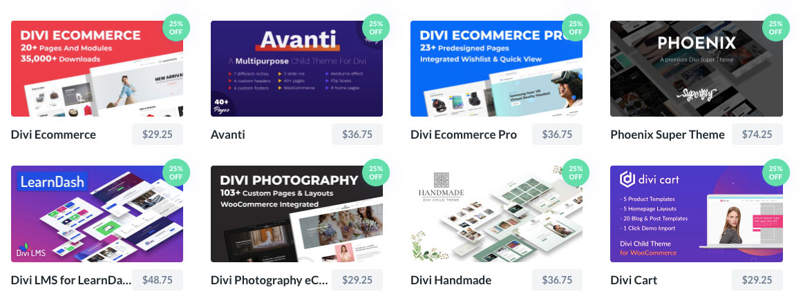 best selling divi child themes