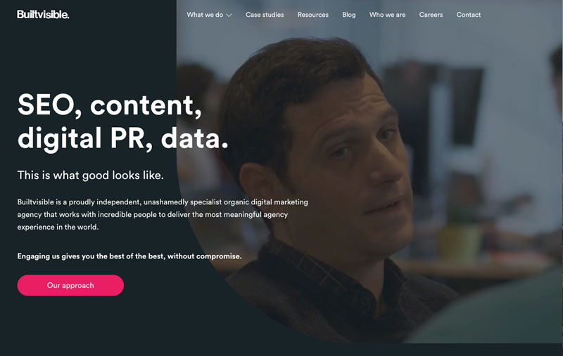 website of the marketing agency builtvisible