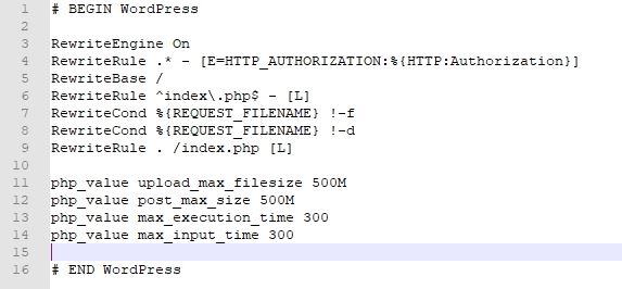 Increase the limits in the .htaccess file