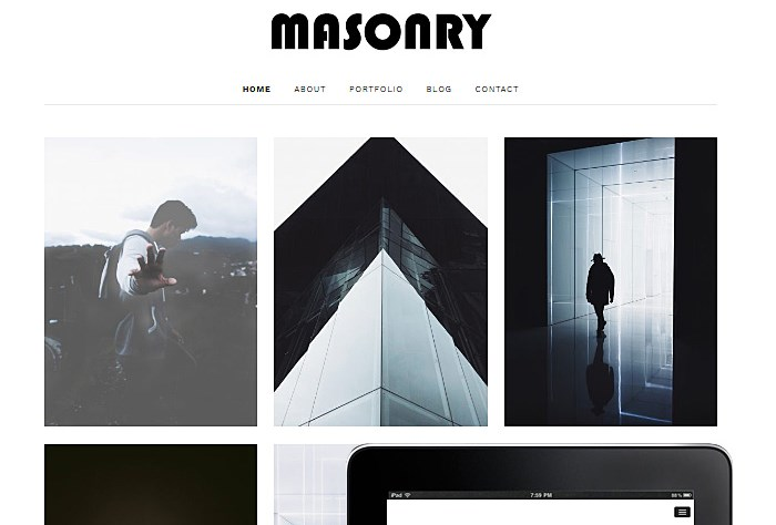 Masonry Minimalist WordPress Theme