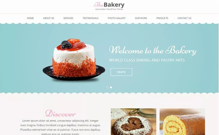 Bakes and Cakes Free WordPress Theme