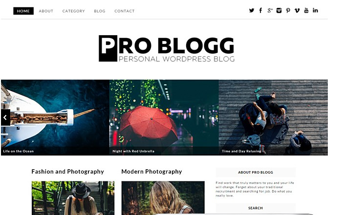 Problogg Responsive Free WordPress Theme