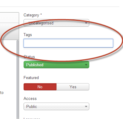 how to tag articles in joomla