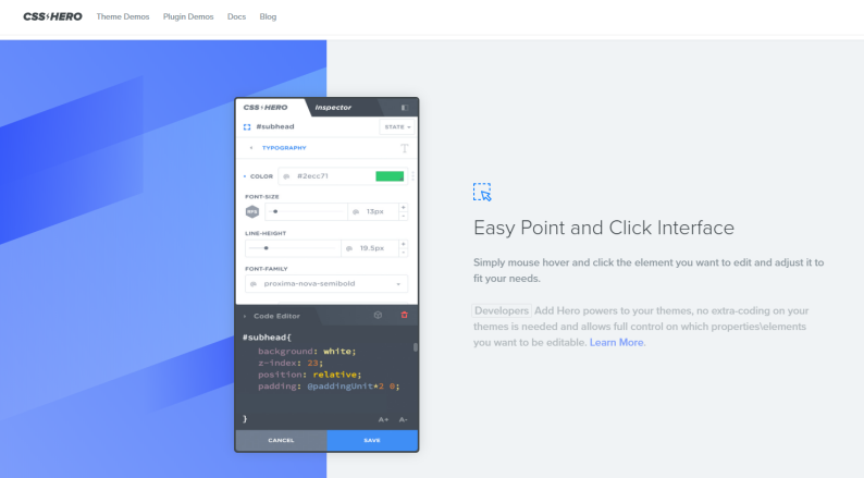 easy click and point interface