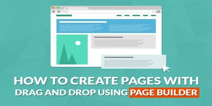 use page builders to build web pages
