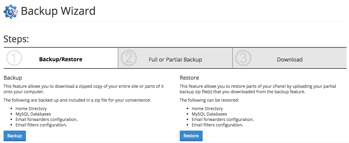 Backup / Restore Wizard
