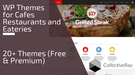 Cafe and restaurant WordPress themes roundup