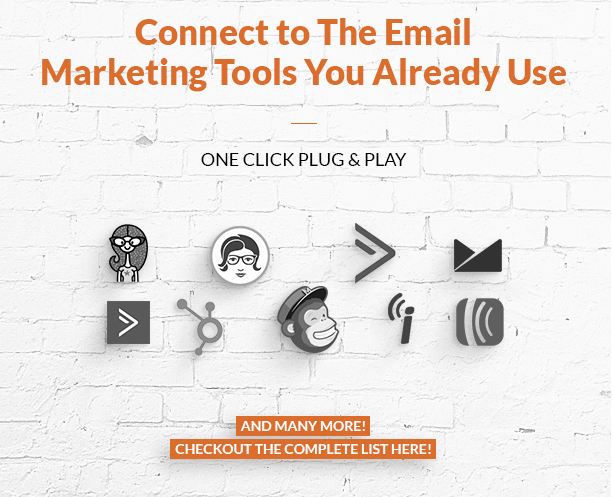 Connect WordPress Popup plugin to email marketing tools