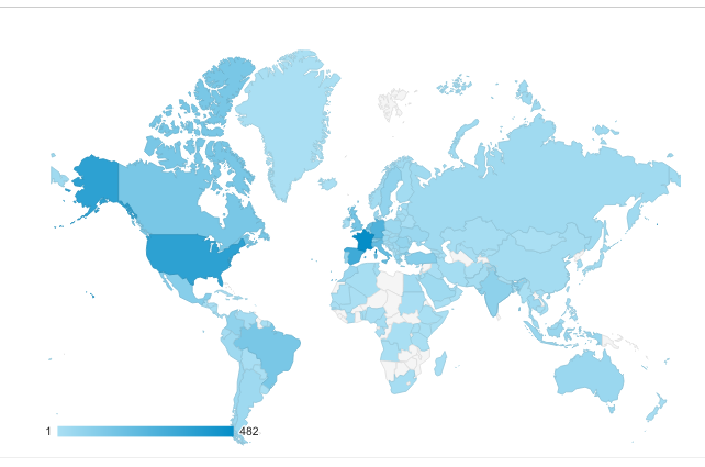 Google analytics geographies