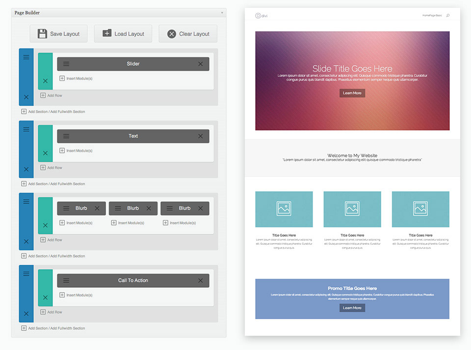 Divi Builder Review Layout Example