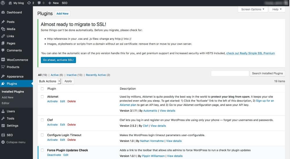 WordPress SSL-Erkennung des SSL-Zertifikats
