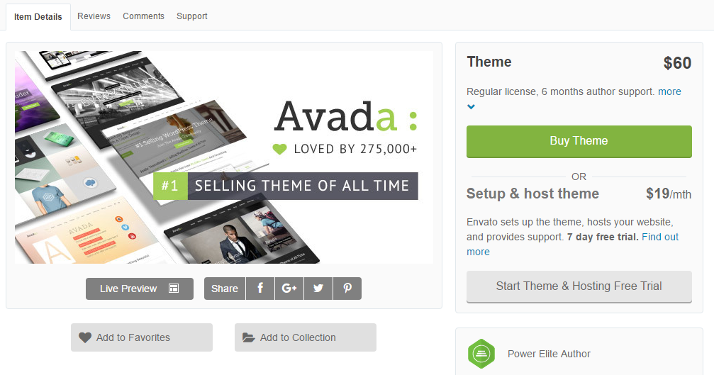 Avada - best selling theme of all time